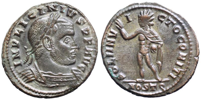 Un follis inédit de Constantin Ier, revers avec Victoire et empereur Licini24