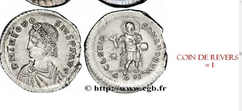 Comparaison de coins du Miliarense de Théodose II   Monnai17