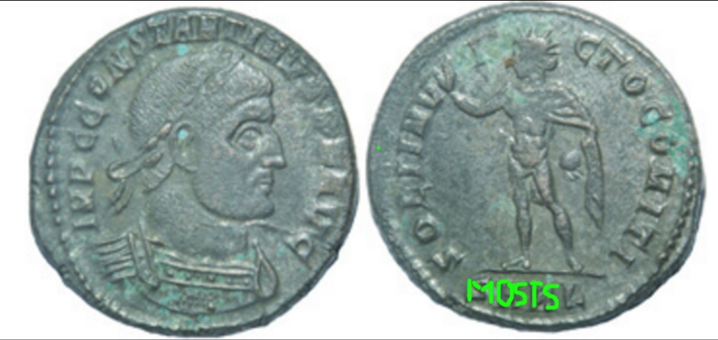 Un follis inédit de Constantin Ier, revers avec Victoire et empereur Sarl_m10