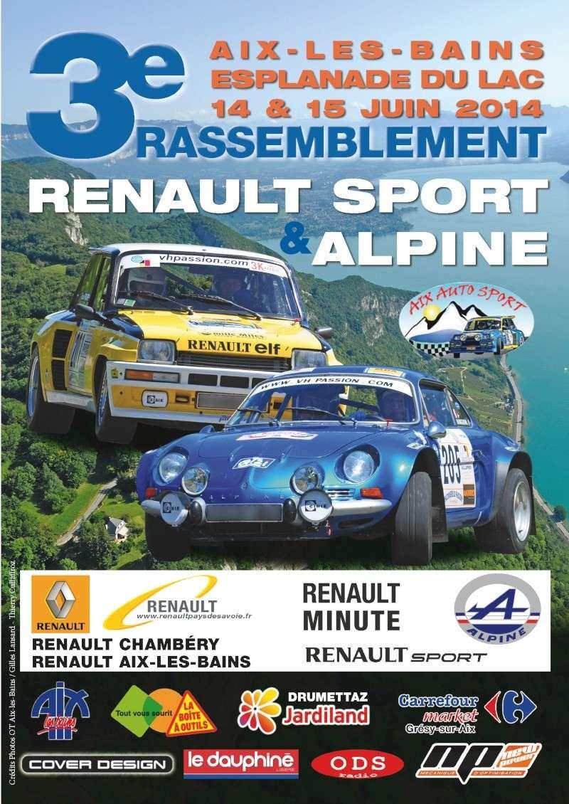14/15 juin 2014 - 3e Rassemblement RS et Alpine à Aix-les-Bains Couv-310