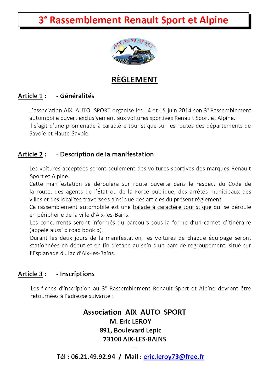 14/15 juin 2014 - 3e Rassemblement RS et Alpine à Aix-les-Bains P1_rag12