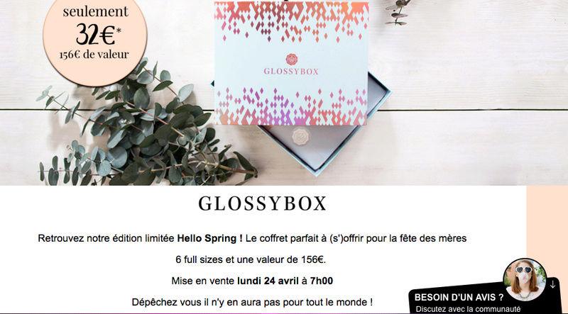 "Glossybox édition limitée ""Hello spring"" Captur12"
