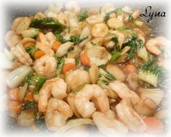 Chow mein cantonais aux crevettes Chow_m11