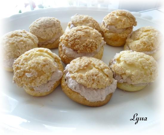 Pâte à choux avec croustillant (streusel) Croust23