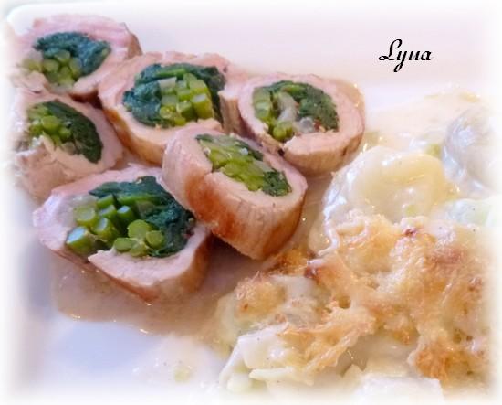 Filet de porc farci aux épinards et asperges Filet_16