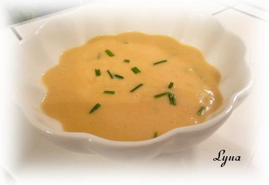 Crème de carottes, pommes et gingembre Potage10