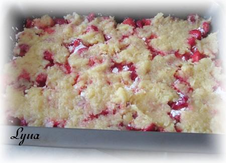 Pouding aux fruits facile avec gâteau des anges Poudin13