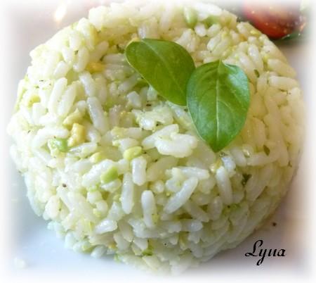Crème d'avocat et ail pour pâtes ou riz Riz_cr10