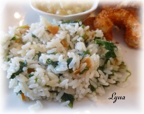 Riz au lait de coco maison, épinards et abricots Riz_la10