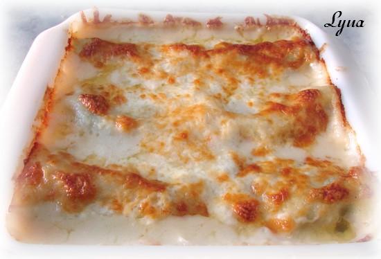 Rouleaux de lasagne aux crevettes et épinard Roulea20