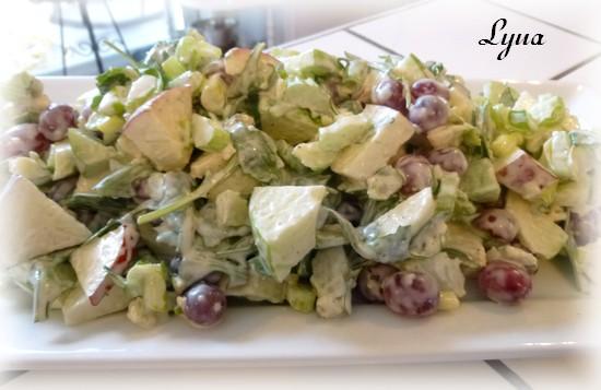 Salade Waldorf au fromage bleu Salade10