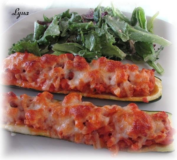 Zucchinis farcis à la saucisse italienne Zucchi10