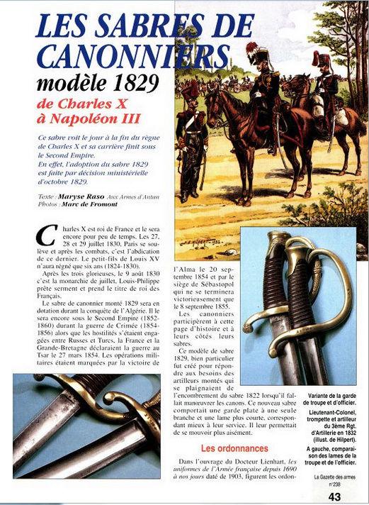 Sabre D'officier Artillerie Montée modèle 1829 Sabre_10
