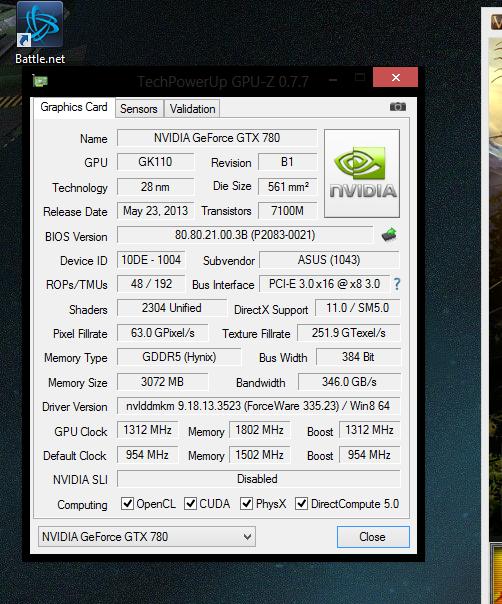 UNBOXING : ASUS GTX 780 DirectCU II OC  210