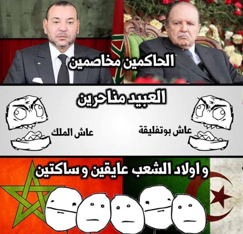 صور معبرة لبعض آراء الشعب عن العلاقات المتوترة بين المغرب والجزائر 14523810