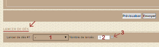 Lancer de Dé Lancer10
