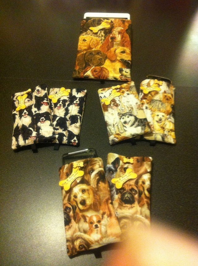 92.  Handcrafted Dog Phone Case - made by Jacqueline Ashbery 12310