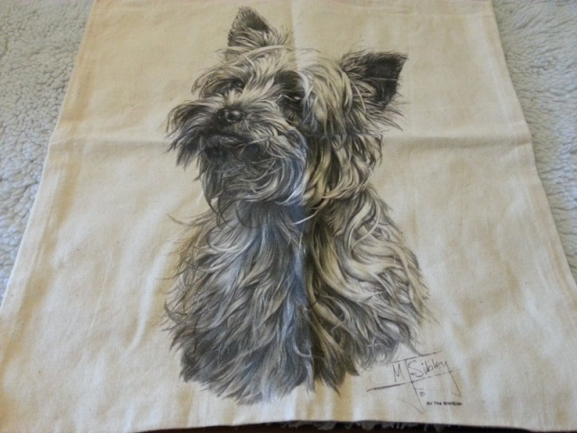 86.  Yorkie Canvas Bag 2013-014