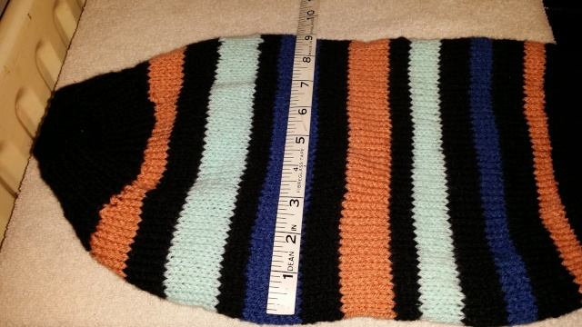 95.  Large Candy Striped Hand Knitted Jumper 2013-116