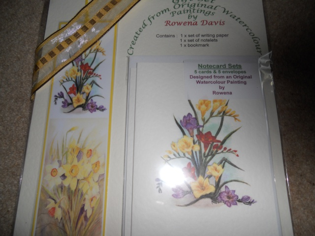 81.  Gift Notelet Set, Created from Original Watercolour Paintings Novemb33