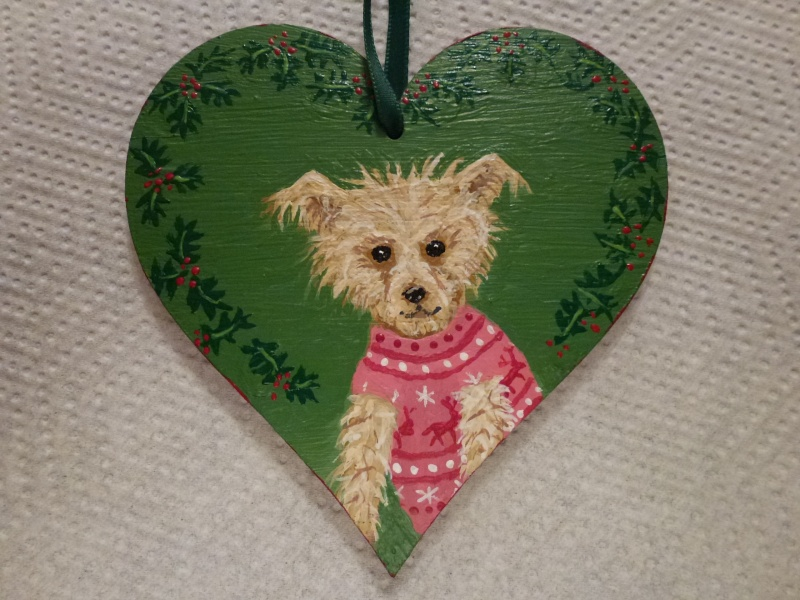 """127.  ****LATE ENTRY - """"The Christmas Jumper"""" - Painted Wooden Bauble ***** P1070716"""