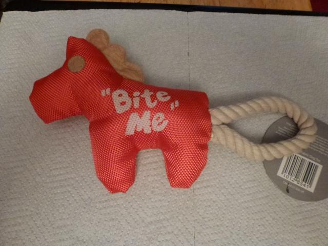 128.  ** NEW - Last minute stocking filler - Orange Tug Toy ** P1070718