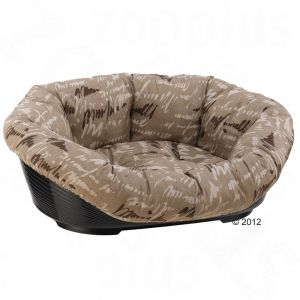 2.  Ferplast Sofa Dog Basket With Cover - Beige Secure10