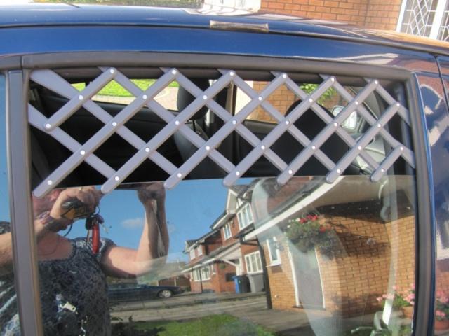 102.  Car Window  Dog  Vent Guard Windon10