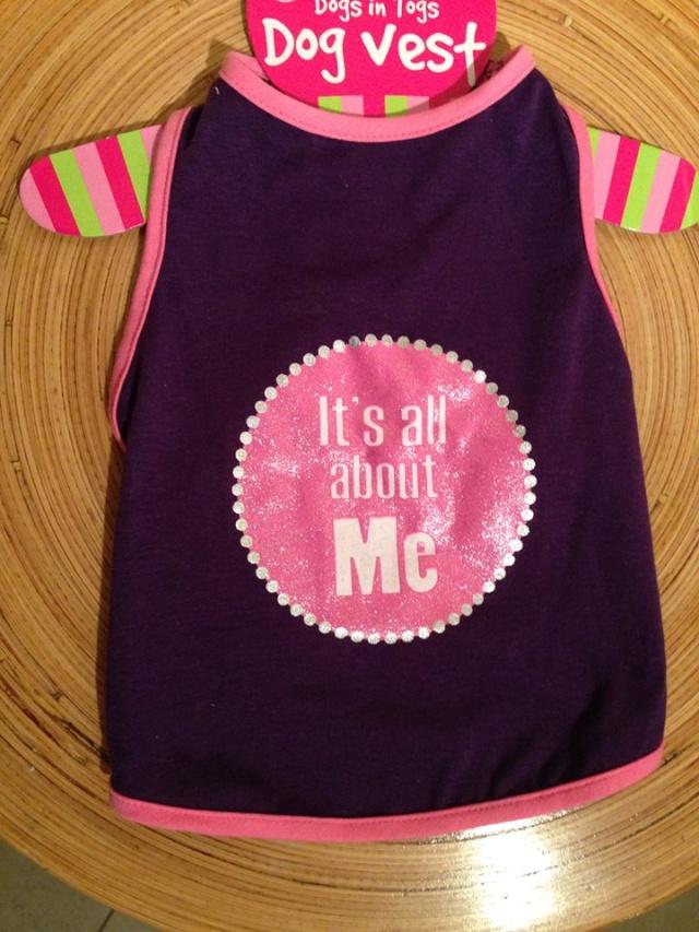 49.  Purple Dog T Shirt (small) Z110