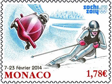 Timbres - Jeux Olympiques Sotchi 2014 Timbre10