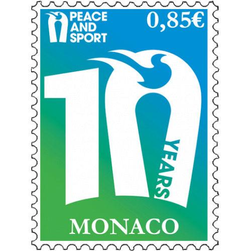 Timbre (Monaco) - 10 ans de l'ONG Peace & Sport Timbre11
