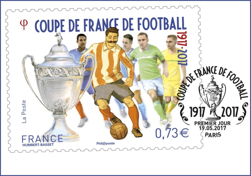 NOUVEAU TIMBRE - FRANCE - COUPE DE FRANCE DE FOOTBALL Timbre12