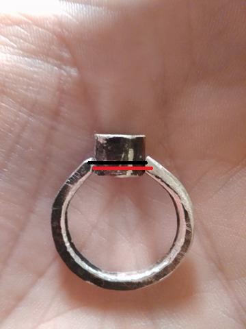 Bague Serti clos grenat hessonite  17351112