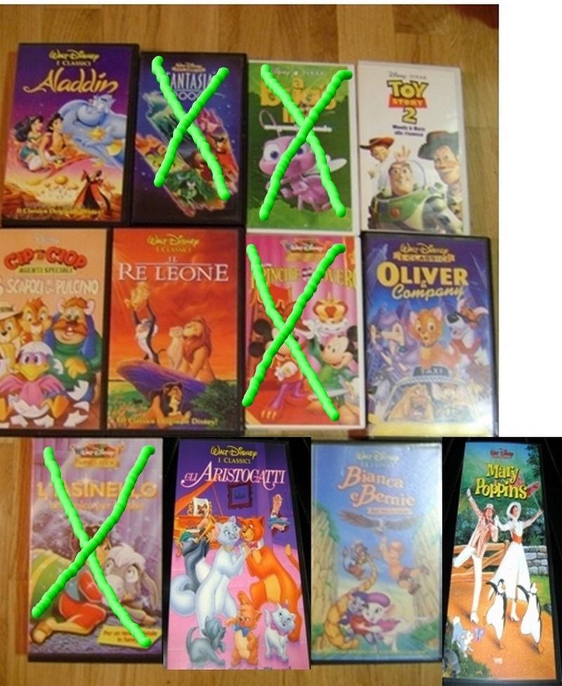 VENDO VHS  & DVD del MONDO DISNEY & ANIME GIAPPONESI Lotto_10