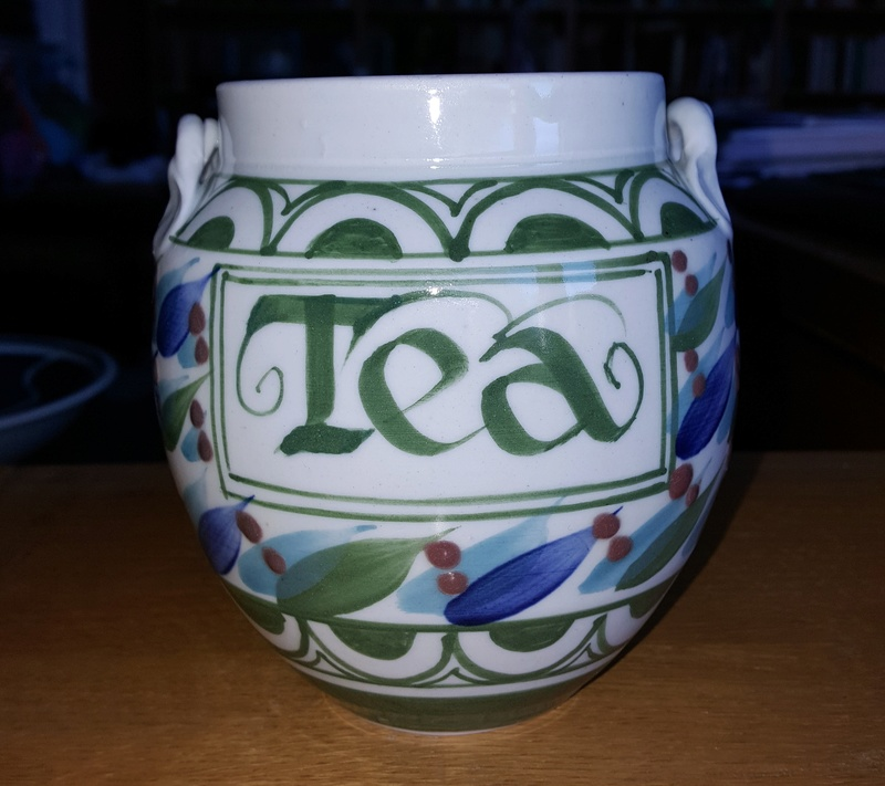 Porcelain tea caddy Tea_ja11