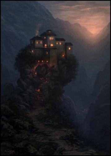 Одинокий дом на холме Azaa_a10