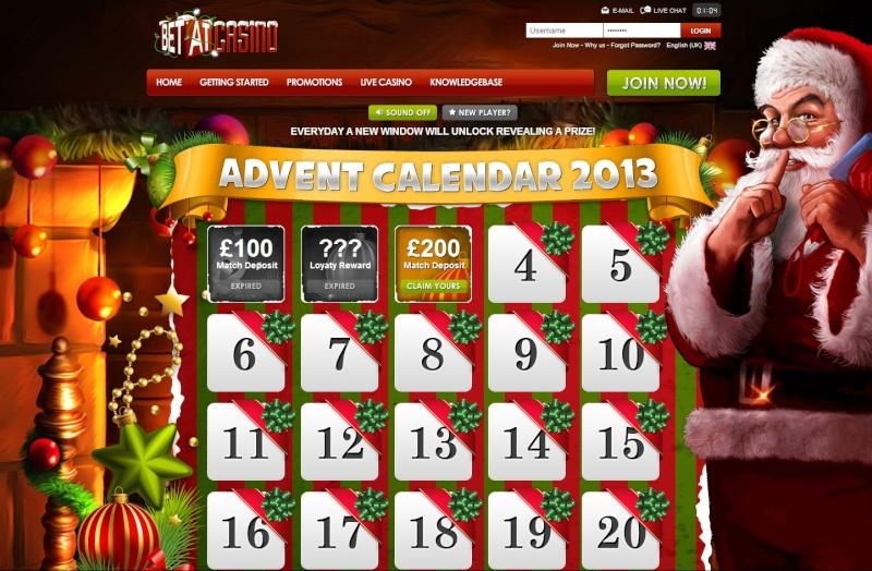 BetAt Casino Christmas Calendar - Tuesday 3rd December 2013 Betat_13
