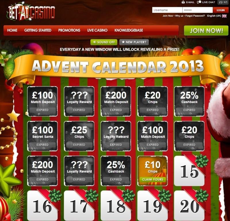 BetAt Casino Christmas Calendar - 14th December 2013 Betat_24