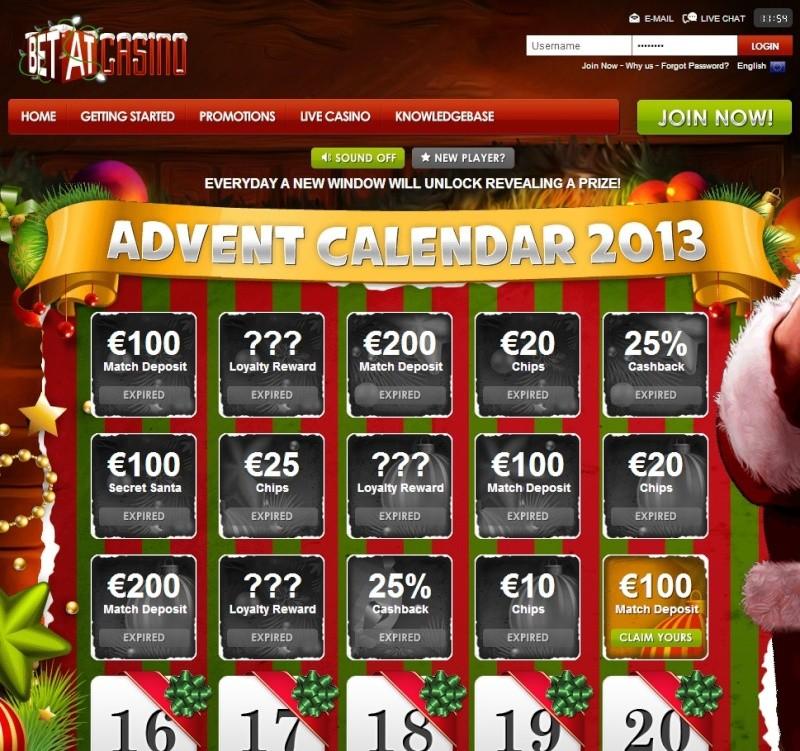 BetAt Casino Christmas Calendar - 15th December 2013 Betat_25