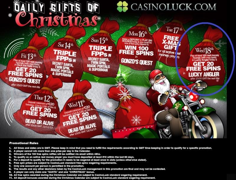 CasinoLuck Casino Christmas Calendar - 18th December 2013 Casino12