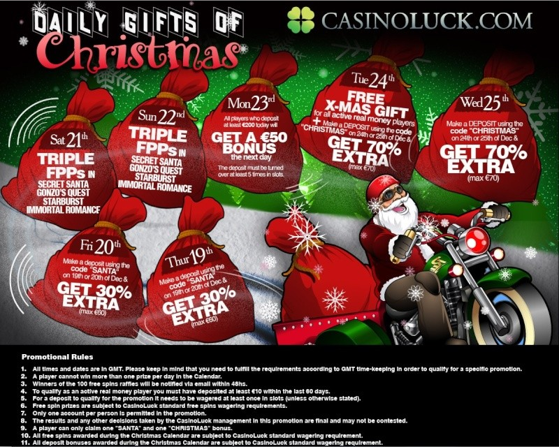 CasinoLuck Casino Christmas Calendar - 19th-25th December 2013 Casino13