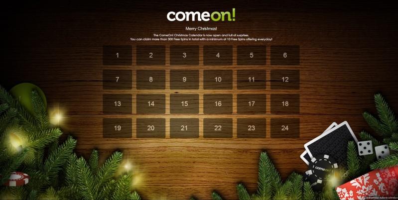 ComeOn Casino Christmas Calendar 2013 Overview Comeon11