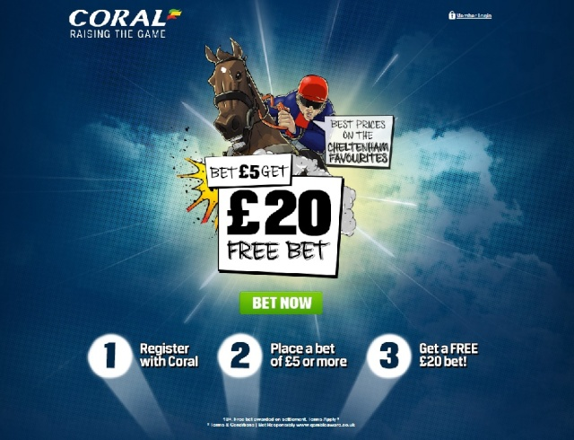 Coral Bet £5 Get £20 Free Bet - Cheltenham 2014 Coral_12