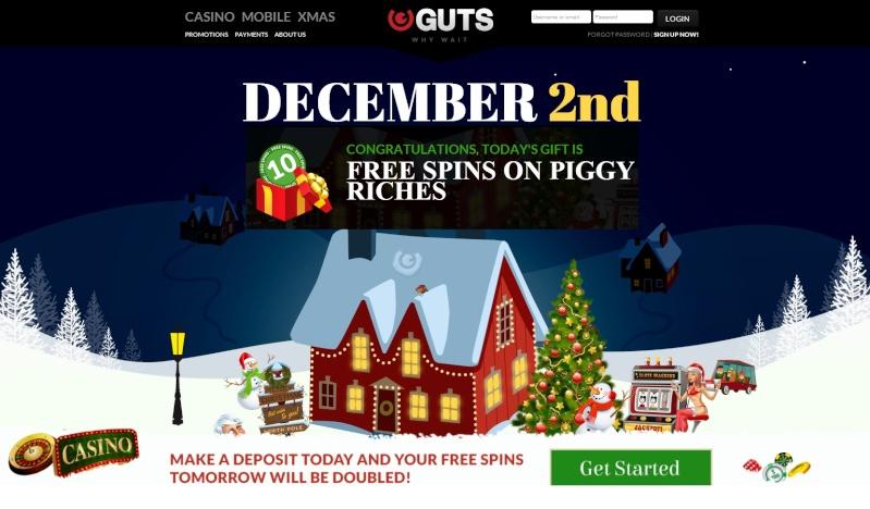 Guts Casino Christmas Calendar 2013 - 2nd December 2013 Guts_c10