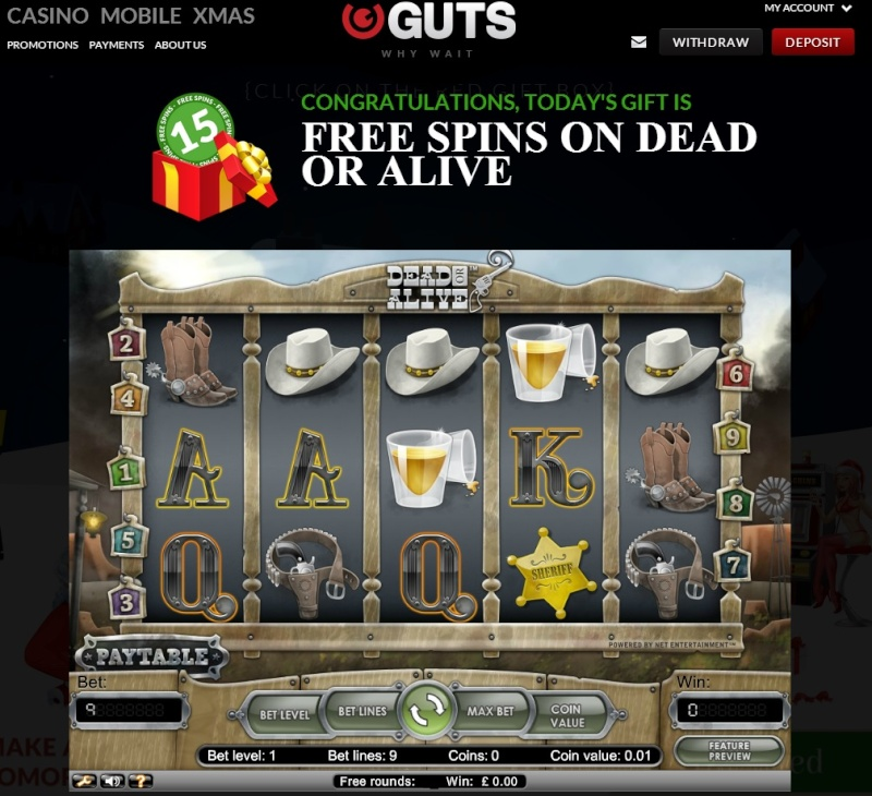 Guts Casino Christmas Calendar 2013 - 3rd December 2013 Guts_c11