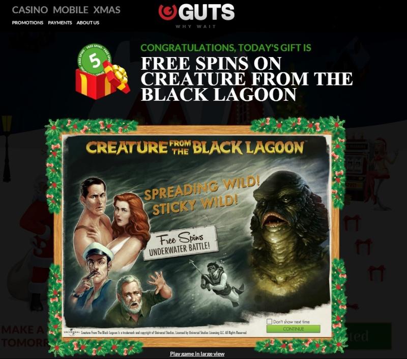 Guts Casino Christmas Calendar - 4th December 2013 Guts_c12