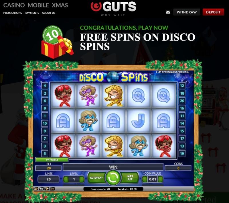 Guts Casino Christmas Calendar - 6th December 2013 Guts_c14