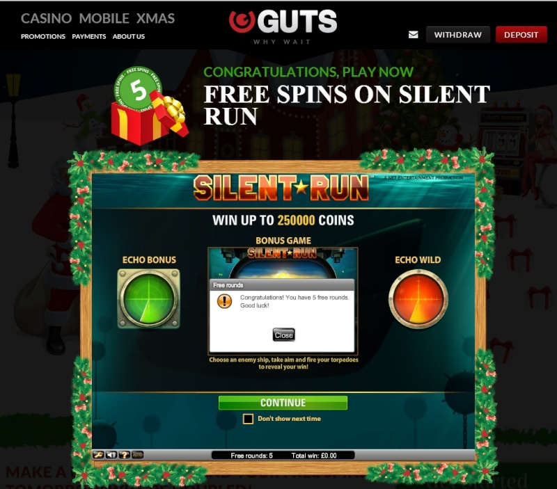 Guts Casino Christmas Calendar - 8th December 2013 Guts_c16