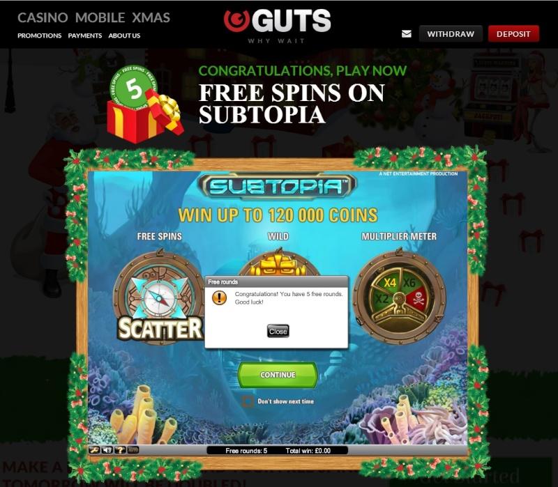 Guts Casino Christmas Calendar - 9th December 2013 Guts_c17