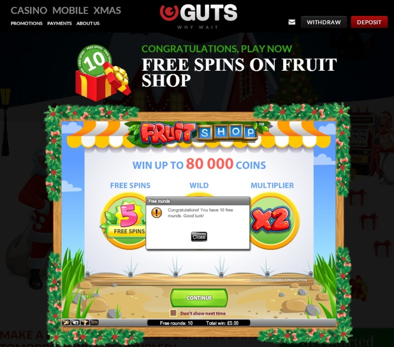 Guts Casino Christmas Calendar - 10th December 2013 Guts_c18